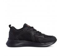 Мужские кожаные кроссовки NIKE Clasic Black N10 черн