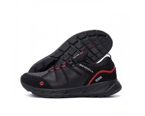 Мужские кожаные кроссовки MERRELL Black М1 ч