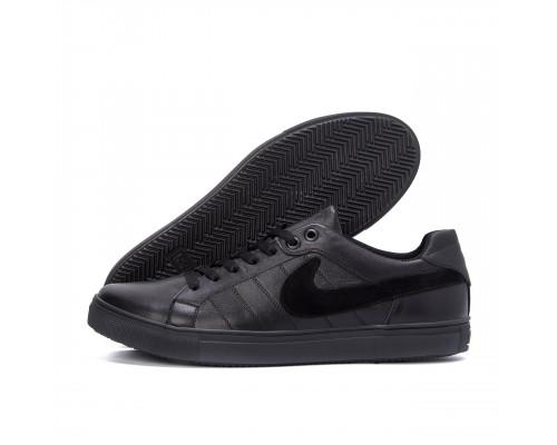 Мужские кожаные кроссовки Nike Black N8-1