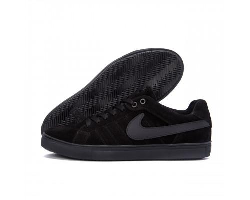 Мужские кожаные кроссовки Nike Black N8-2