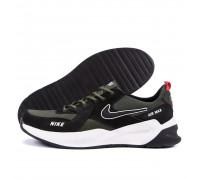 Мужские кожаные кроссовки Nike Olive AIR MAX N67 ол