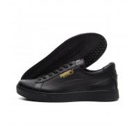 Мужские кожаные кроссовки Puma Black 2158