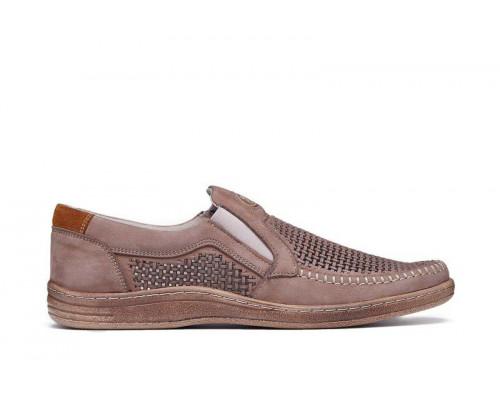 Мужские кожаные летние туфли 036 ол перф