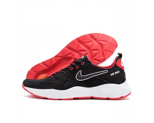 Мужские летние кроссовки сетка Nike black red