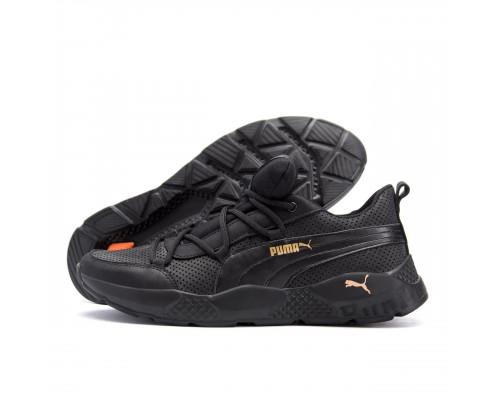 Мужские кожаные летние кроссовки, перфорация Puma Runner