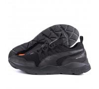 Мужские летние кроссовки сетка Puma Runner Black