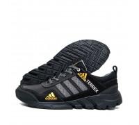Мужские кожаные кроссовки Adidas Terrex Black
