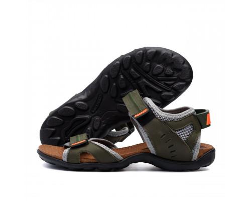 Мужские кожаные сандалии Nike Active Drive Olive