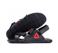 Мужские кожаные сандали Reebok NS black red