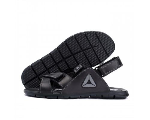 Мужские кожаные сандали Reebok NS black grey