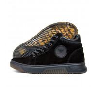 Мужские зимние кожаные ботинки Armani