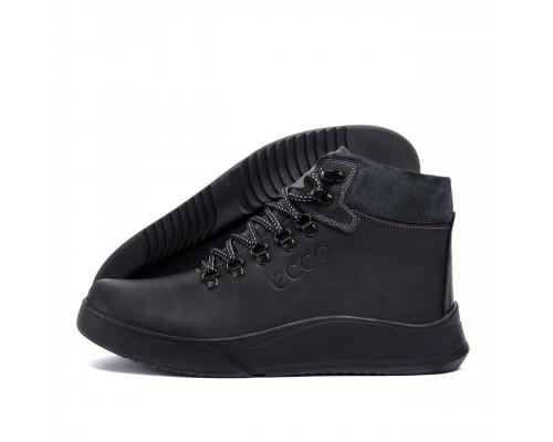 Мужские зимние кожаные ботинки Yurgen Black Style