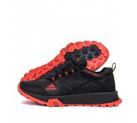 Мужские кожаные кроссовки Adidas Terrex Black 111ч