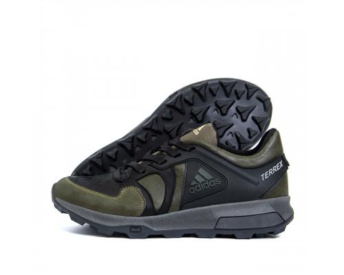 Мужские кожаные кроссовки Adidas Terrex Green 2242