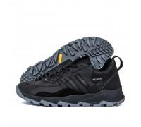 Мужские кожаные кроссовки Adidas Terrex Black AW черн