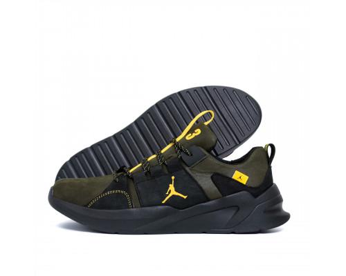 Мужские кожаные кроссовки Jordan Green Line