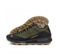 Мужские кожаные кроссовки MERRELL Green М-05х
