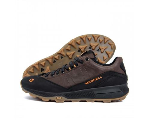 Мужские кожаные кроссовки MERRELL Brown