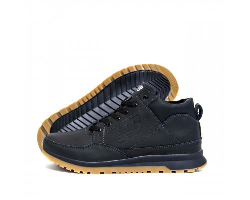 Мужские зимние кожаные кроссовки New Balance Clasic Black