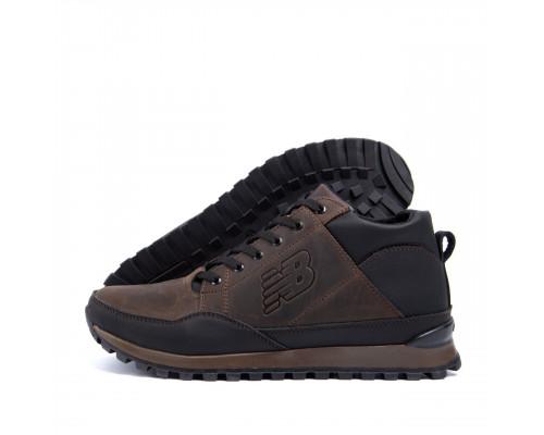 Мужские зимние кожаные кроссовки New Balance Clasic Chokolate