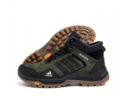 Мужские зимние кожаные ботинки Adidas А-40