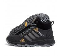 Мужские зимние кожаные ботинки AdidasБот 520 черн