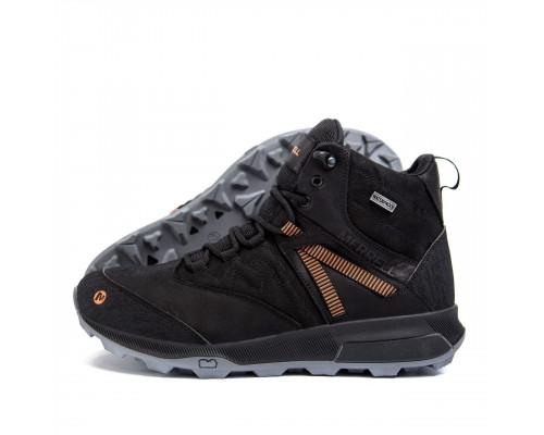 Мужские зимние кожаные ботинки MERRELL BlackМт черн бот