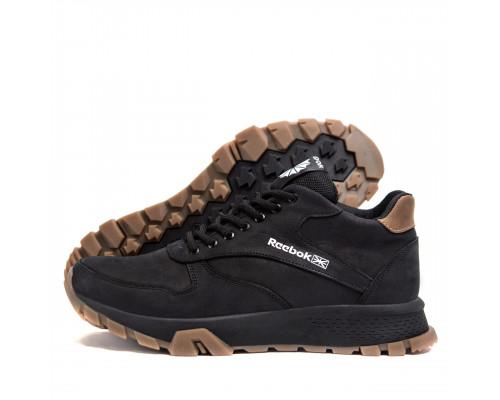 Мужские зимние кожаные ботинки Reebok R-02