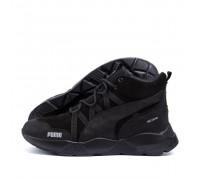 Мужские зимние кожаные ботинки Puma Runner Black