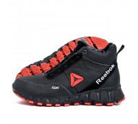 Мужские зимние кожаные ботинки Reebok Crossfit Black Red