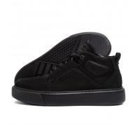 Мужские зимние кожаные ботинки ZG Black Exclusive ZG 0703