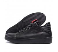 Мужские зимние кожаные ботинки ZG Black Exclusive ZG 0720