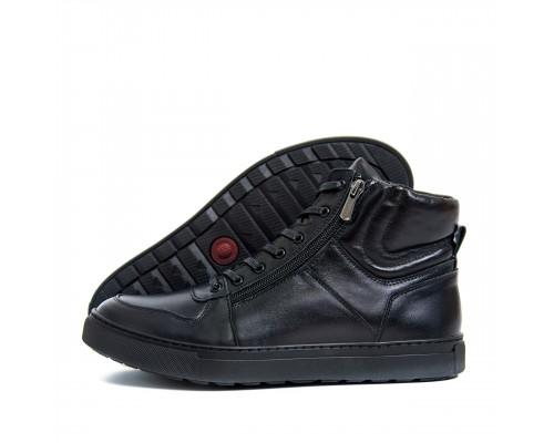 Мужские зимние кожаные ботинки ZG Black Exclusive New ZG 0920 чк бот