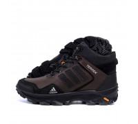 Мужские зимние кожаные ботинки AdidasА-40 ч\кор бот