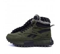 Мужские зимние кожаные ботинки Reebok R-05 хаки бот