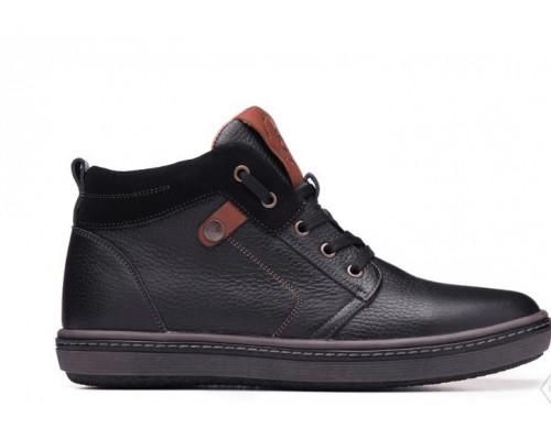 Мужские зимние кожаные ботинки Bastion 081ф