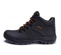 Мужские зимние кожаные ботинки E-series Infinity black