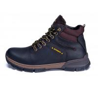 Мужские зимние кожаные ботинки ZG Flotar Yelow Line