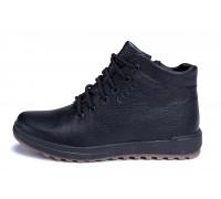 Мужские зимние кожаные ботинки E-series black New Line