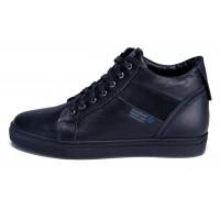 Мужские зимние кожаные ботинки ZG Black Stage 1