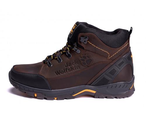 Мужские зимние кожаные ботинки Jack Wolfskin Chocolate