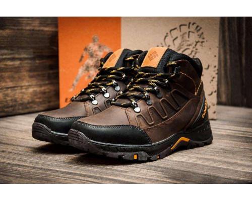 Мужские зимние кожаные ботинки Columbia NS Chocolate