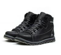 Мужские зимние кожаные ботинки CAT Expensive Black Night