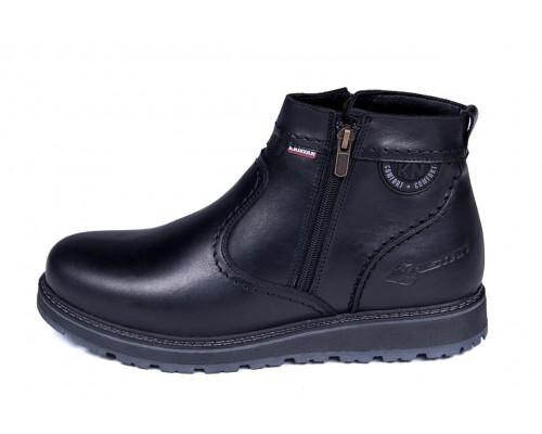 Мужские кожаные зимние ботинки Kristan City Traffic Black