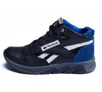 Мужские зимние кожаные кроссовки Reebok NS Blue