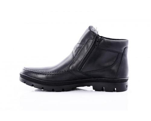 Мужские кожаные зимние ботинки на двух замках Best Life