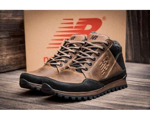 Мужские зимние кожаные кроссовки New Balance clasic brown
