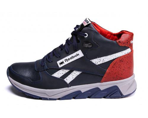 Мужские зимние кожаные кроссовки Reebok NS Red