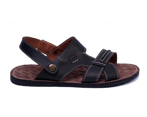 Мужские кожаные сандалии Bonis Original Black