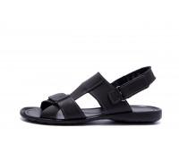 Мужские кожаные сандалии CARDIO Black
